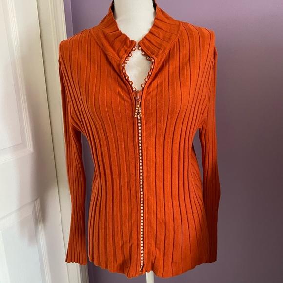 belldini sweater with rhinestone zipper size M